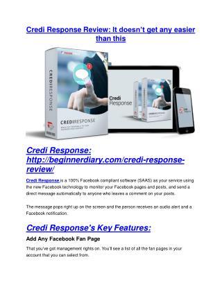 Credi Response review and (MEGA) bonuses – Credi Response