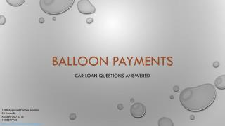 Car Loan Balloon Payments