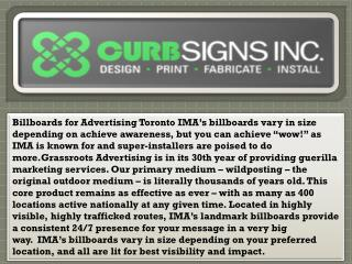 Billboards for Advertising Toronto - Curbsigns