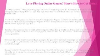 Stop Letting Online Games Get the Best of You! Try These Top Tips and Techniques!