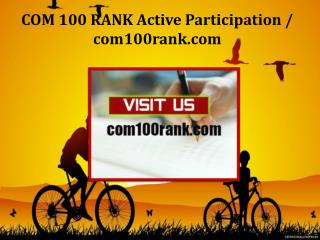 COM 100 RANK Active Participation / com100rank.com