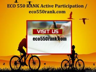 ECO 550 RANK Active Participation / eco550rank.com