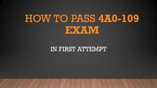 4A0-109 VCE Questions Answers