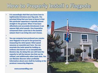 How to Properly Install a Flagpole Working