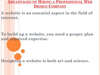 Tips While Hiring a Professional Web Design Company