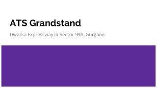 ATS Grandstand Enquiry 08030474080