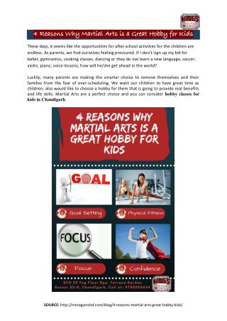4 Reasons Why Martial Arts is a Great Hobby for Kids