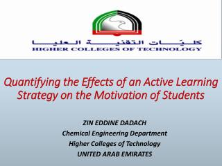 First quantitative method for the motivation of students