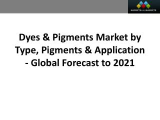 Dyes & Pigments Market worth 42.00 Billion USD by 2021