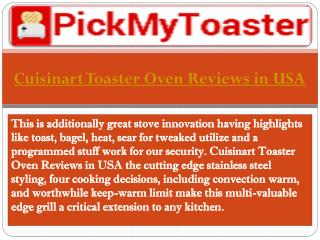 Cuisinart Toaster Oven Reviews in USA - Pickmytoaster