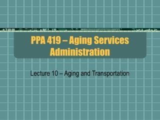 PPA 419