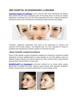 Cosmetic Surgeon in Chandigarh @9217060061