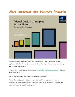 Most Important App Designing Principles