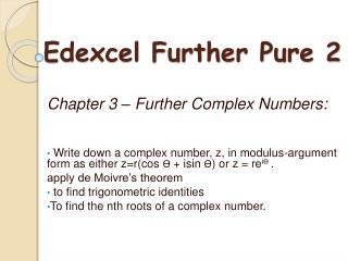 Edexcel Further Pure 2