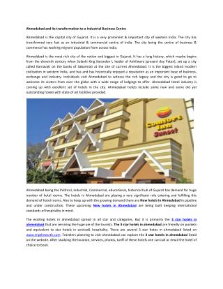 New hotels in ahmedabad