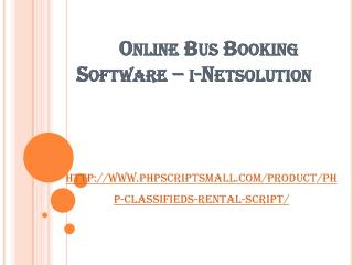 Online Bus Booking Software – i-Netsolution