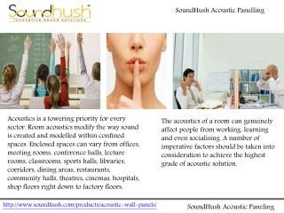 SoundHush Acoustic Paneling