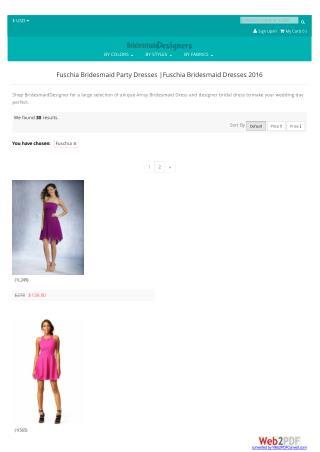 Fuschia Bridesmaid Dresses 2017