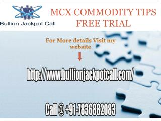 MCX Gold Trading Tips Free Trial