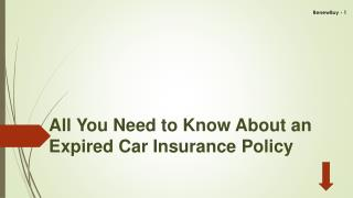 All you need to know about an Expired Car Insurance Policy
