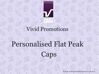 Personalised Flat Peak Caps at Vivid Promotions