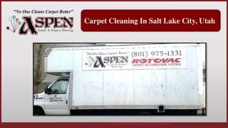 Carpet Cleaning In Salt Lake City, Utah