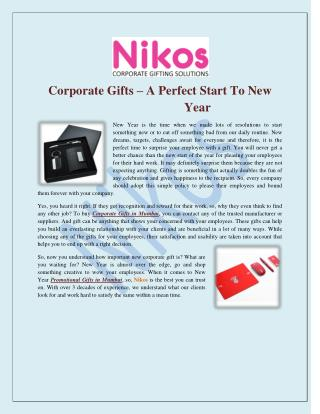 Corporate Gifts–A Perfect Start To New Year