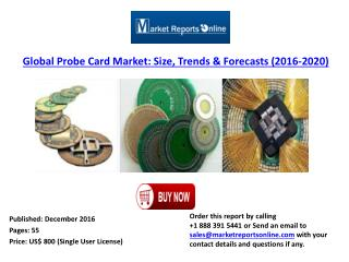 Global Probe Card Market Growth Analysis and 2020 Forecasts