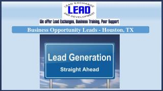 Business Opportunity Leads - Houston, TX