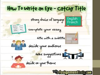How To Write an Eye – Catchy Title