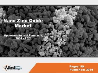 Nano Zinc Oxide Market Research & Industry Analysis, 2022