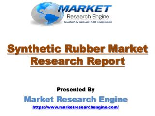Synthetic Rubber Market Worth US$ 45 Billion by 2023