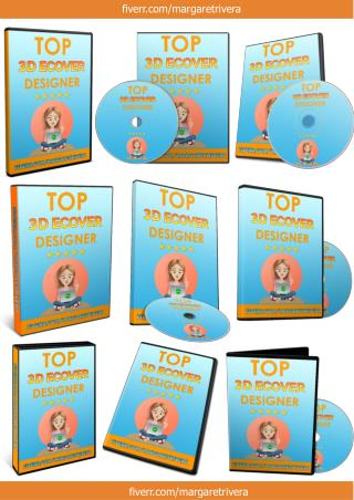 DVD Cover_3D Ebook Cover Report Box CD DVD Template