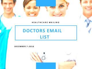 Doctors Mailing List