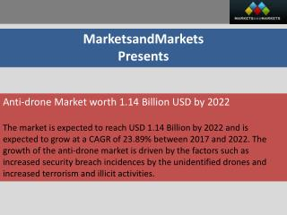 Anti-drone Market worth 1.14 Billion USD by 2022