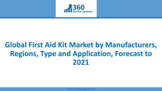 Global First Aid Kit Market by Manufacturers, Regions, Type and Application, Forecast to 2021