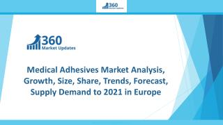Medical Adhesives Market Analysis, Growth, Size, Share, Trends, Forecast, Supply Demand to 2021 in Europe