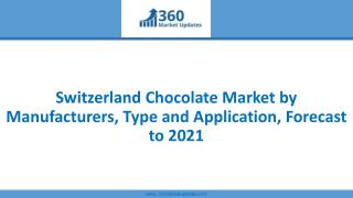 Switzerland Chocolate Market by Manufacturers, Type and Application, Forecast to 2021