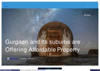 Gurgaon and its suburbs are Offering Affordable Property