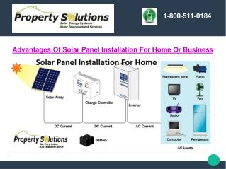 Advantages Of Solar Panel Installation For Home Or Business