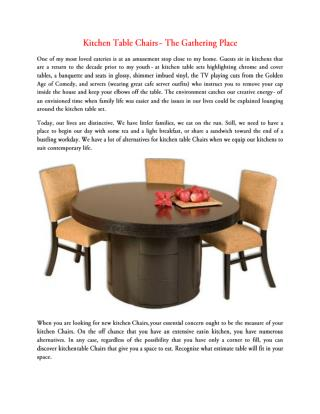 Kitchen Table Chairs - The Gathering Place