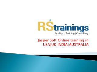 jasper soft online training course content