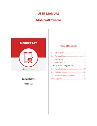 Odoo MobiCraft: Responsive Mobile Ecommerce Store Theme