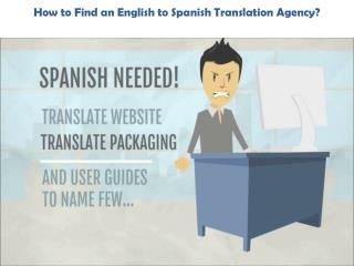 English to Spanish Translation Agency