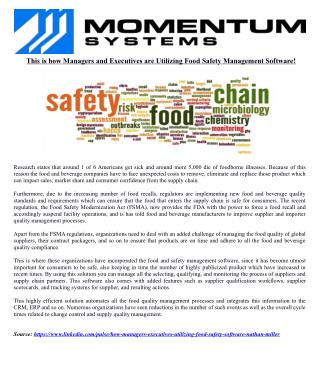 This is how Managers and Executives are Utilizing Food Safety Management Software!