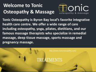 Welcome To Tonic Osteopathy