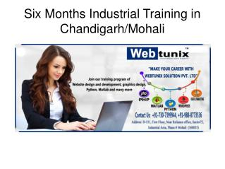 six months industrial training in Chandigarh/Mohali