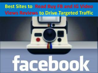 Tips And Tricks To Buy Real Facebook Video Views