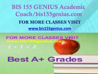 BIS 155 GENIUS Dreams Come True /bis155genius.com