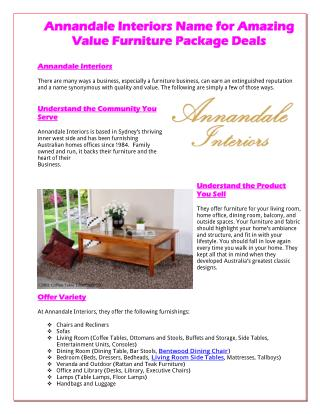Annandale Interiors Name For Amazing Value Furniture Package Deals